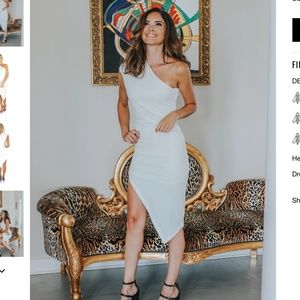 NWT L'Abeye Baby Spice Dress in White